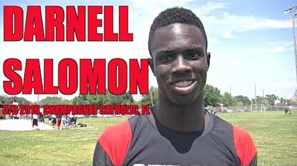 An arrest warrant has been issued for top 2016 wide receiver recruit Darnell Salomon after a football camp at the University of Georgia