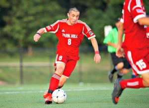 Park Hill (Kansas City, Mo.) midfielder Nick Hibbeler was diagnosed with testicular cancer a year ago. After six rounds of chemo, six surgeries and eight stomach drains, he is cancer free. / Reed Portrait Group