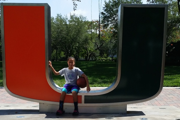 Jaden Newman shows her age and size inside the Miami U