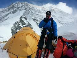 Malavath Purna within sight of the Mt. Everest summit
