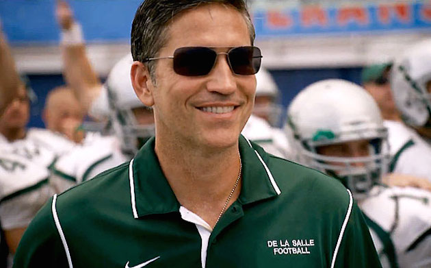 Jim Caviezel's cuts a compellingly understated figure as legendary De La Salle coach Bob Ladouceur — Sony Pictures