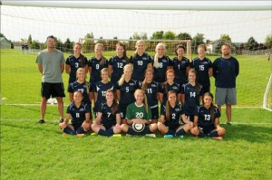 2013 Lake City Timberwolves girls soccer team photo. photo courtesy of Lake City High School.