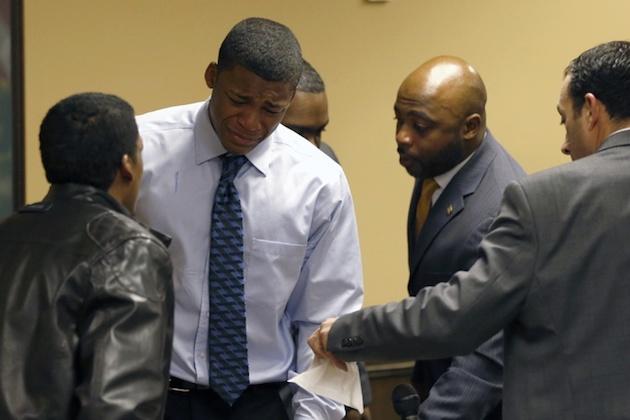 Ma'lik Richmond after his conviction in the Steubenville rape case —Associated Press