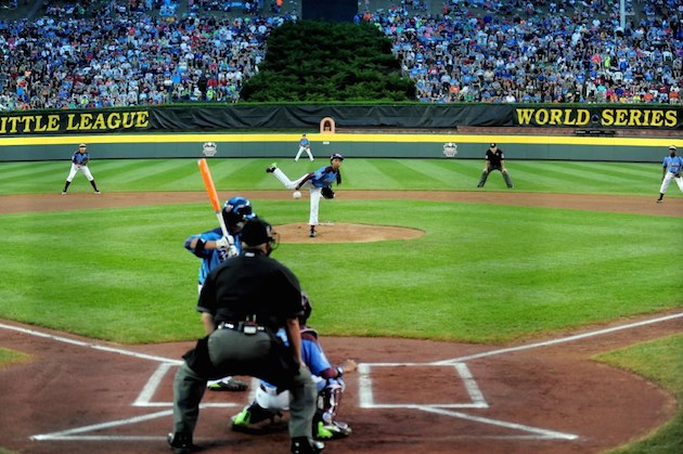 Mo'ne Davis pitched just 2 1/3 inning during Taney's 8-1 loss to Las Vegas, Nevada —USA Today Sports
