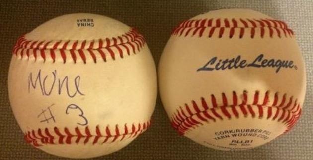 This baseball from eBay allegedly showcases Mo'ne Davis signature —eBay