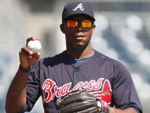 Justin Upton once had to clear women's underwear off of his car from fans in HS, according to his HS coach. / USA Today Sports