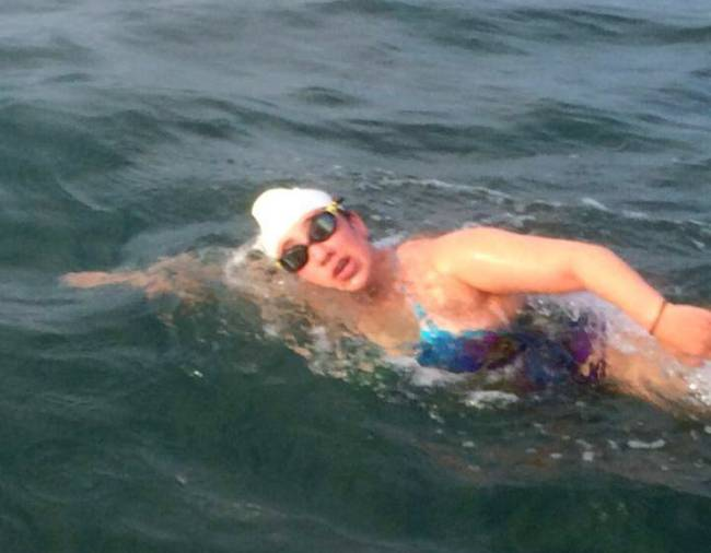 16-year-old New Jersey high schooler Charlotte Samuels became the youngest to complete open water swimming's Triple Crown — Samuels family photo