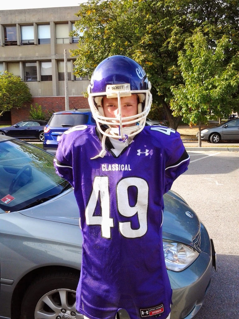 Classical High (Providence, R.I.) sophomore Isaac Lufkin, who was born without arms, serves as the Purples' kicker. Lufkin led his division in onside kick recoveries and helped Classical to an undefeated record and a state title last season.