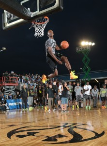 Kwe Parker has a 45-inch vertical leap; and it shows. / Kelly Kline