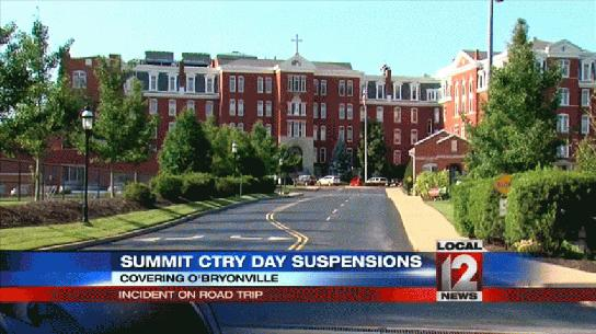 Summit Country Day suspended eight varsity soccer players in connection with a hazing incident on an out-of-state trip —WKRC screen shot