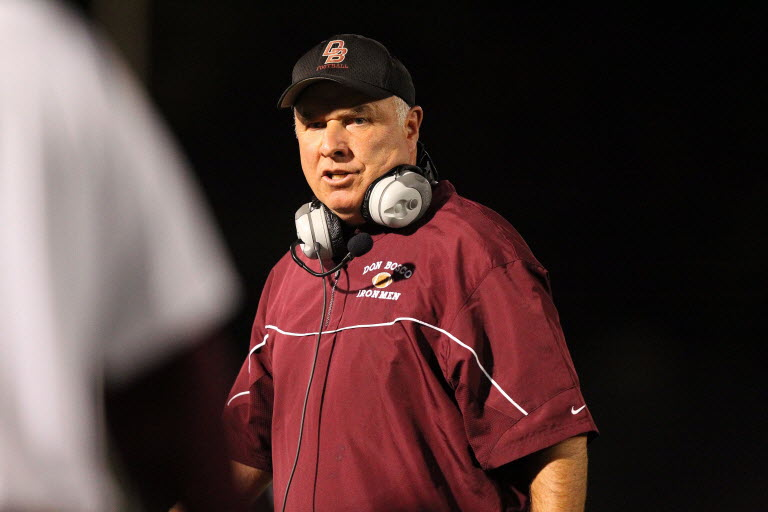 Coach Greg Toal and his Don Bosco Prep (Ramsey, N.J.) Ironmen are the defending state champions.