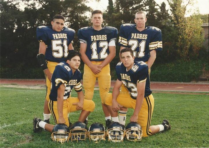 This is Tom Brady in high school at San Mateo's Junipero Serra. Yes, he wore number 12. Evidently number 10 was just a Michigan phase —Facebook