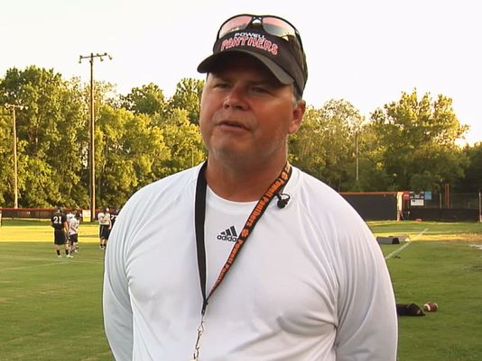 John Allen, head football coach at Powell High School, was suspended for allegedly putting his student athletes at unnecessary risk of injury —WBIR photo