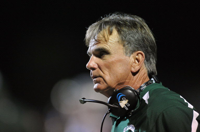 Former De La Salle (Concord, Calif.) head coach Bob Ladouceur led his team to five No. 1 finishes in the Super 25 rankings. Photo by Steve Mitchell, US Presswire