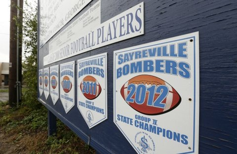 After being charged with disturbing hazing crimes on Friday, some accused members of the Sayreville football team made an appearance in court on Tuesday —Twitter