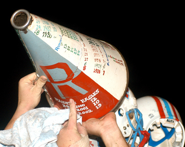 Rummel retained the coveted Megaphone with a convincing win over Shaw Saturday. (Photo submitted by Joel Lutz)