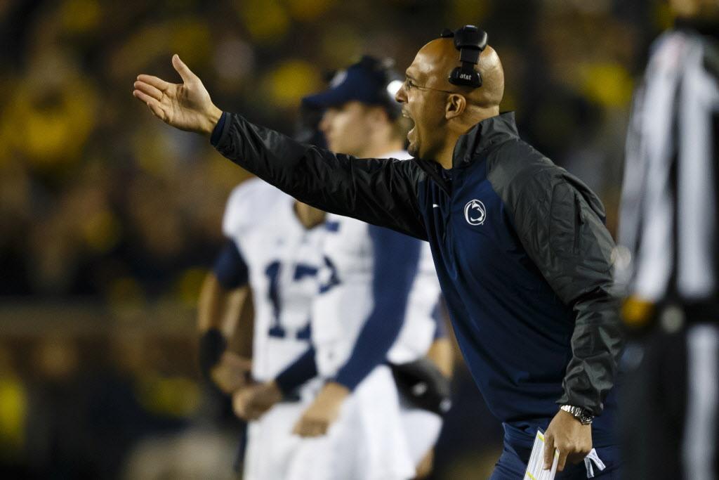 Penn State coach James Franklin | Photo by Rick Osentoski-USA TODAY Sports