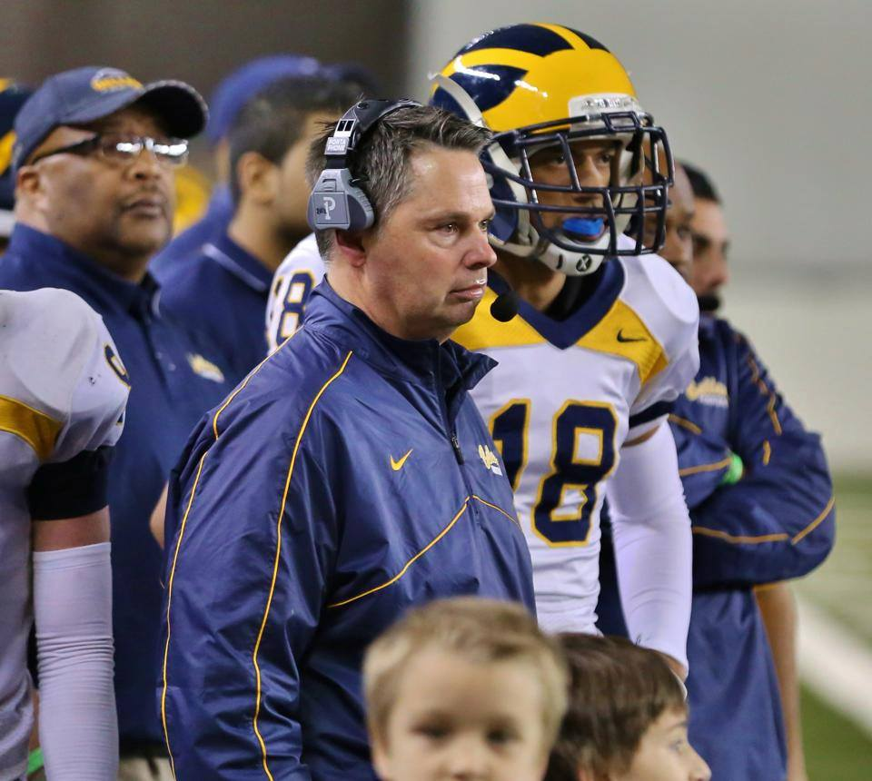 Bellevue football coach Butch Goncharoff and his players have allowed an average of only 5.9 points a game this season.