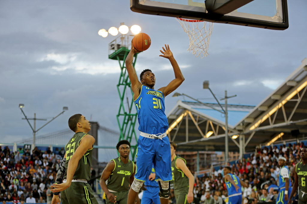 Harry Giles III, who helped lead the USA U17 to a FIBA World Championship this summer, is a key returning player for No. 2 Wesleyan Christian (High Point, N.C.). (AP Photo/Gregory Payan