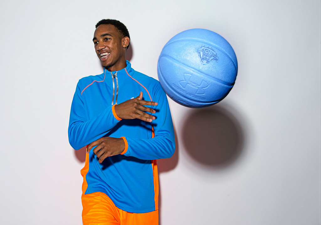 Terrance Ferguson is most thankful for his shooting ability and his athleticism. / Kelly Kline/Under Armour