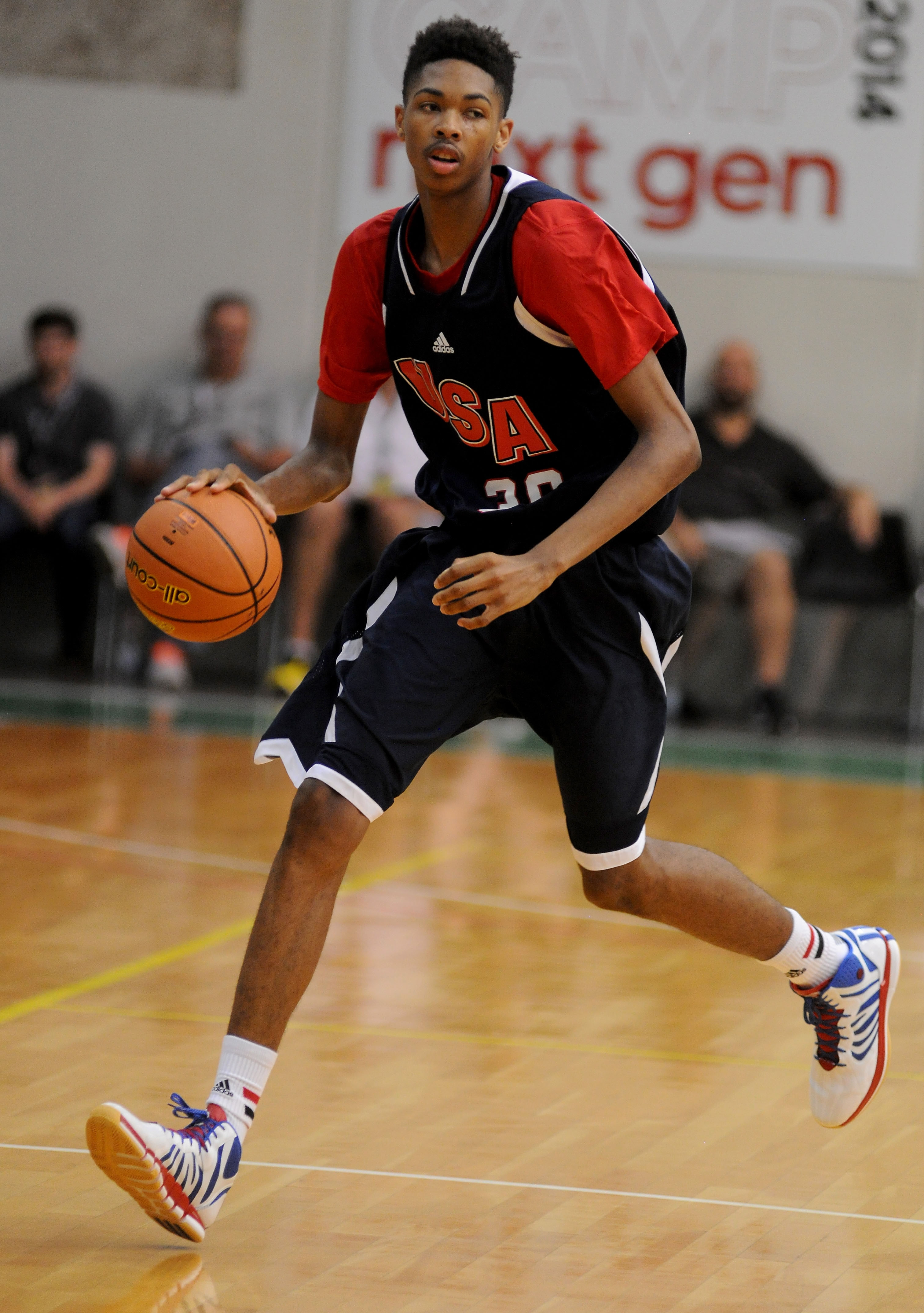 Kinston's Brandon Ingram is one of the top players at this year's High School OT Holiday Invitational. / adidas
