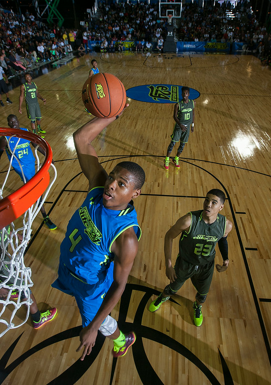 """Dennis Smith Jr. said no one can stop his """"hezi."""" / Kelly Kline/Under Armour"""