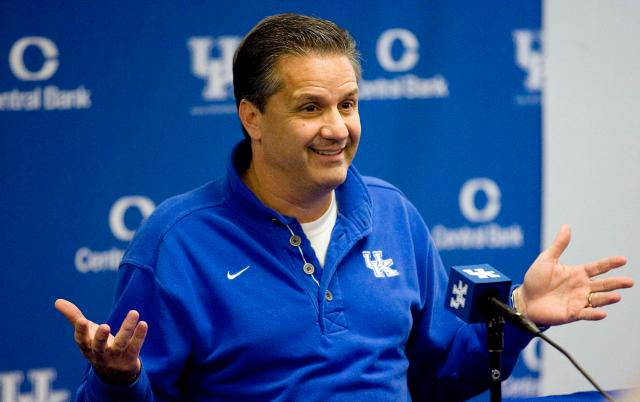 John Calipari coached Kentucky to a rout of UCLA, then took in his son's prep victory hours later on Sunday —USA Today Sports Images
