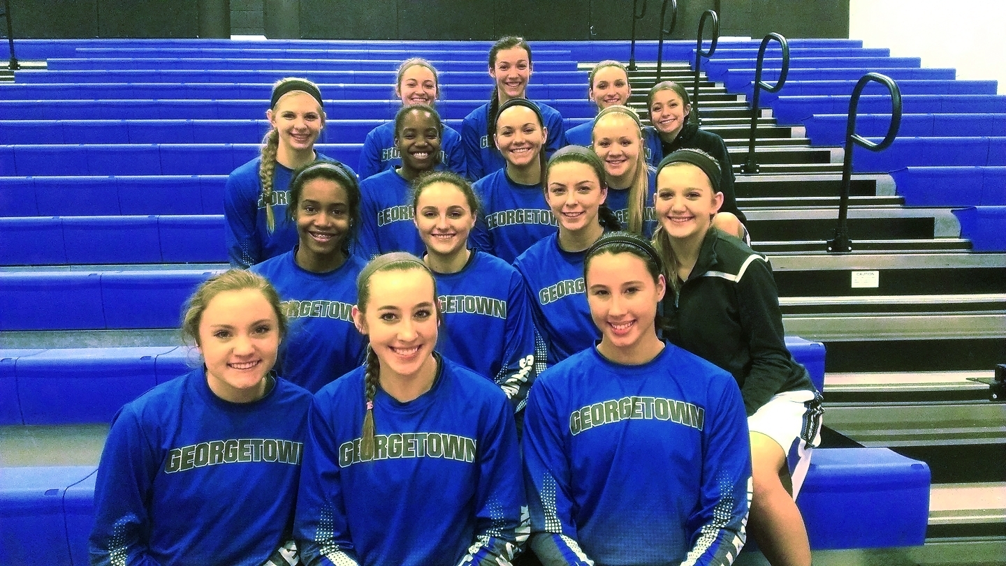 The Georgetown Lady Eagles fit a photo into their pregame itinerary.