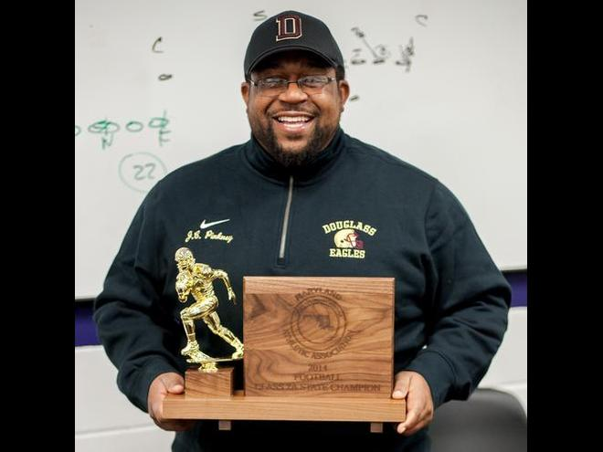 Pinkney led the Eagles to a 14-0 season and the Maryland Class 2A title with a 38-0 victory over Dunbar.  Photo Credit: Phil Peters ENP/Photography
