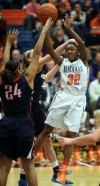 Blackman's Crystal Dangerfield shoots against Oakland in the second half. (Photo: John Gillis, Mufresboro Daily News Journal)