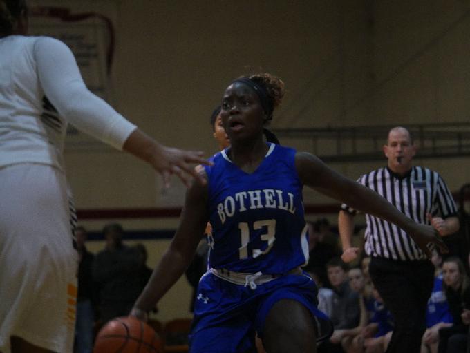 Bothell guard Keyonna Jones looks for her next pass.