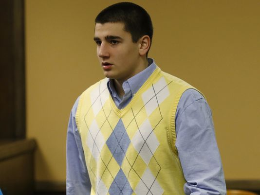 Trent Mays during his sentencing in the Steubenville rape case —Associated Press