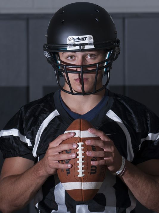 Vinny Papale from Bishop Eustace in New Jersey is among the names to watch at the Blue-Grey All-American Bowl (Photo: John F. Moreno, Courier-Post, Cherry Hill, N.J.)