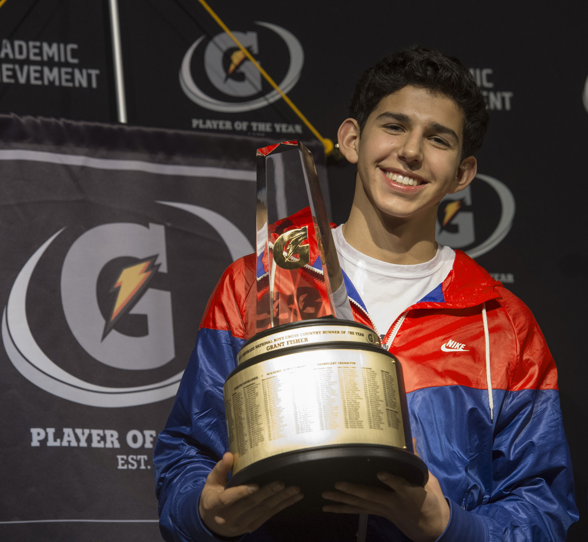 Grand Blanc's (Mich.) Grant Fisher was named  Gatorade National Cross Country Runner of the Year / Susan Goldman