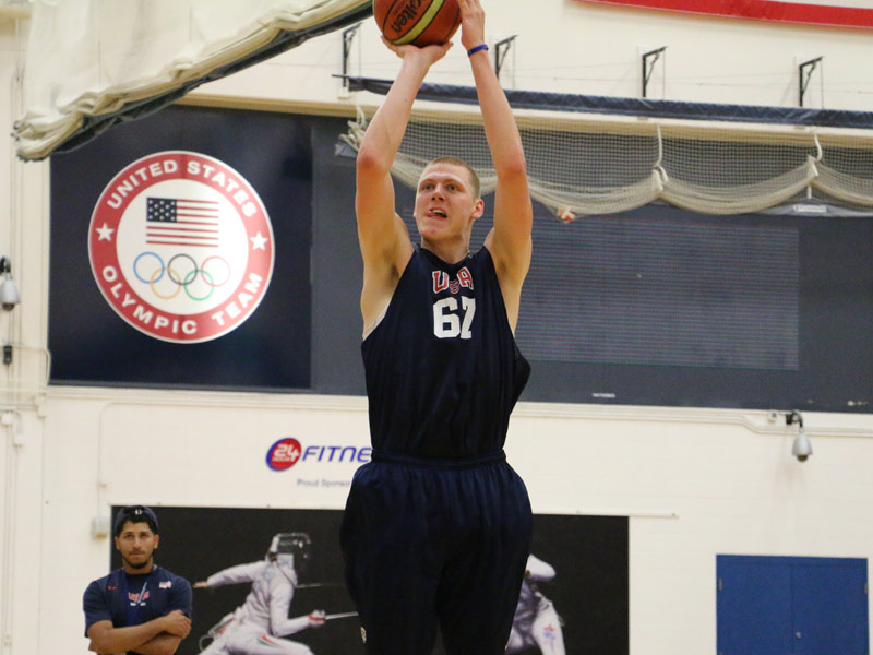 Marquette recruit Henry Ellenson is averaging a solid double-double this season for Rice Lake, Wis. Photo by USA Basketball.