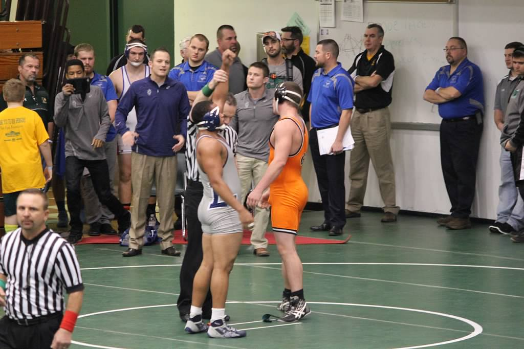 Lorain High (Ohio) senior Isaiah Margheim (left) credits his involvement with Beat the Streets USA Wrestling Program in Toledo for helping him stay focused on wrestling and school. | Photo by Renee Bartlome