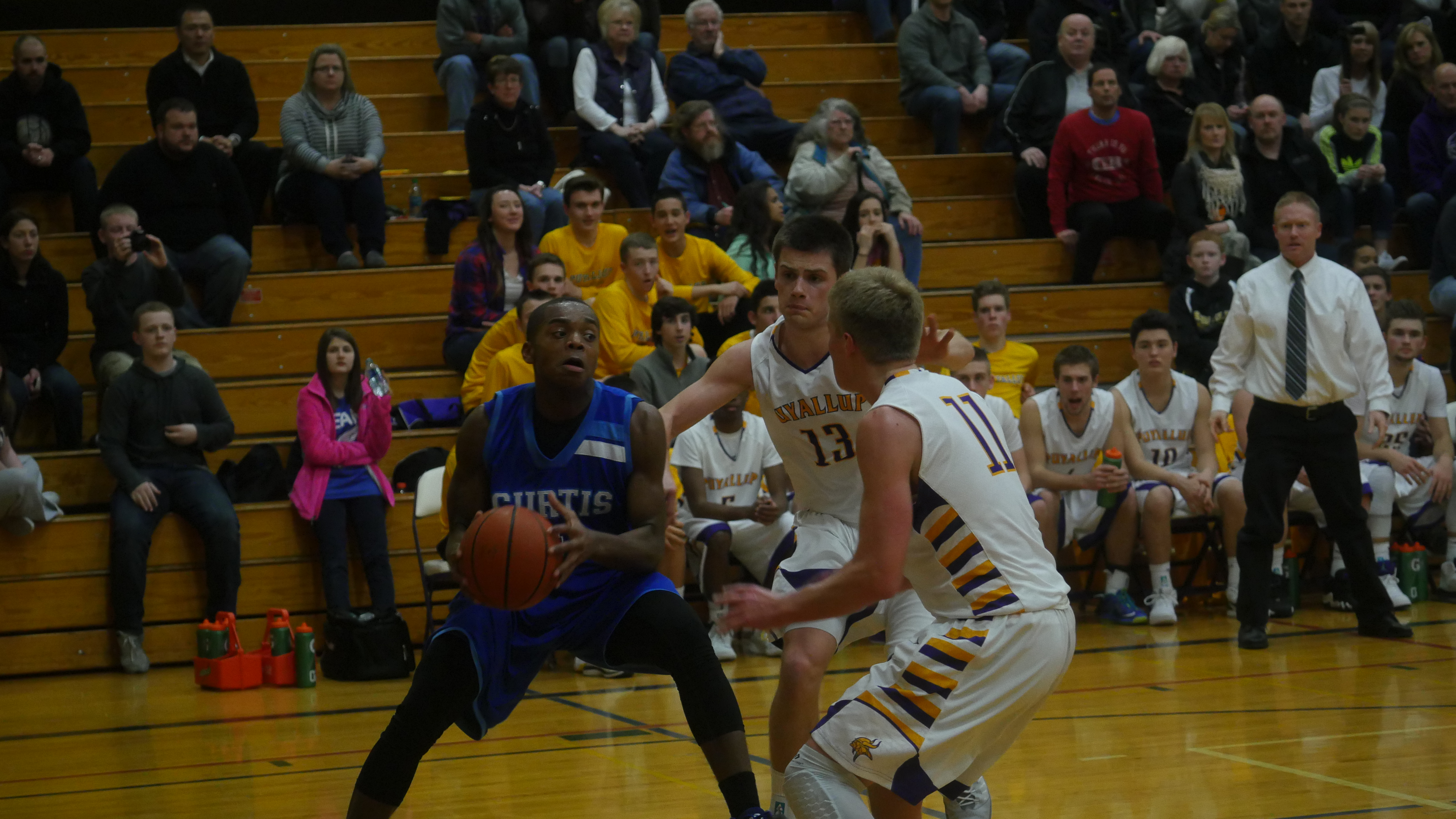 Curtis forward John Moore scored eight of his 24 points in overtime.