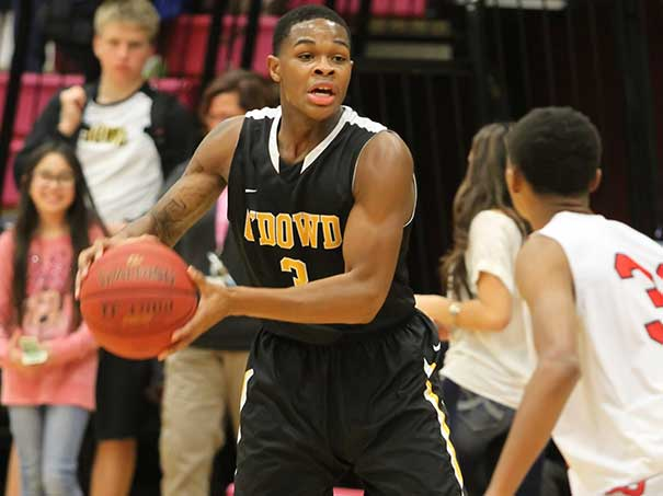 Bishop O'Dowd guard Paris Austin set school records for most points and three-pointers in a game. Bishop O'Dowd photo.