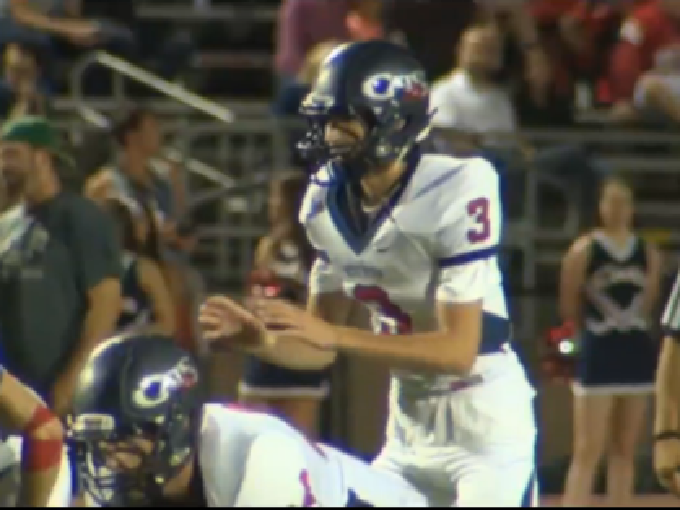 Westview quarterback Austin Brisbee prepares to take a snap in a game against Jesuit.