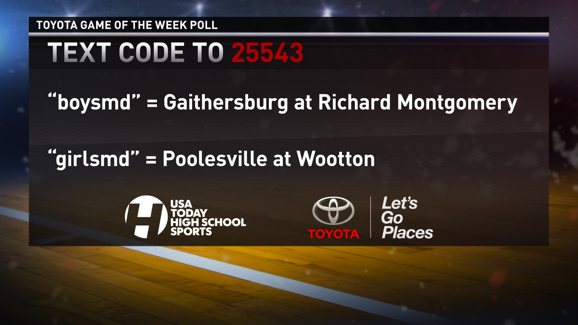 Which match-up do you want to see featured on WUSA 9 on Friday, February 20, 2015?