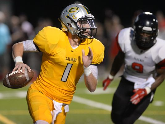 Calvary quarterback Shea Patterson will announce his college decision Tuesday at noon at Calvary. (Photo: Douglas Collier/The  Shreveport Times)