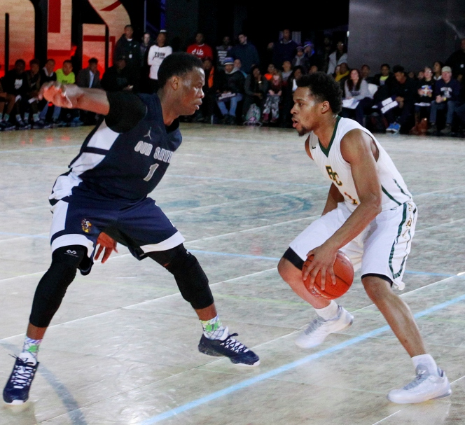 Roselle Catholic guard Isaiah Briscoe (1) looks to drive past Our Savior New American's Cheick Diallo. Both players have been selected for the Jordan Brand Classic.  (Andy Marlin, USA Today Sports)