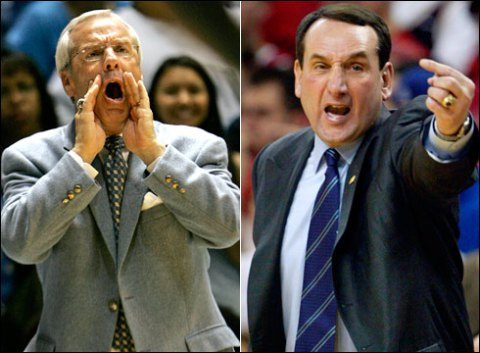 Duke and North Carolina recruits make their picks on tonight's game. / USA Today Sports