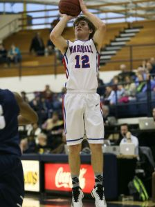Marshall Academy's Dakota Dailey (12) takes a shot against Jackson Academy. (Photo: Keith Warren)
