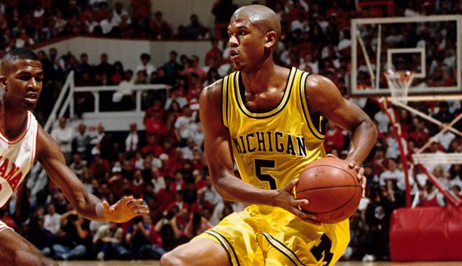 Jalen Rose, the object of high school Kobe Bryant's affection while still at Michigan —USA TODAY Sports Images