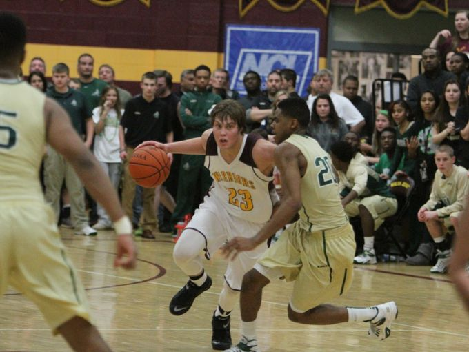 Walsh Just hosted St. Vincent-St. Mary in a boys basketball game on Tuesday / Photo courtesy Tim Dubravetz