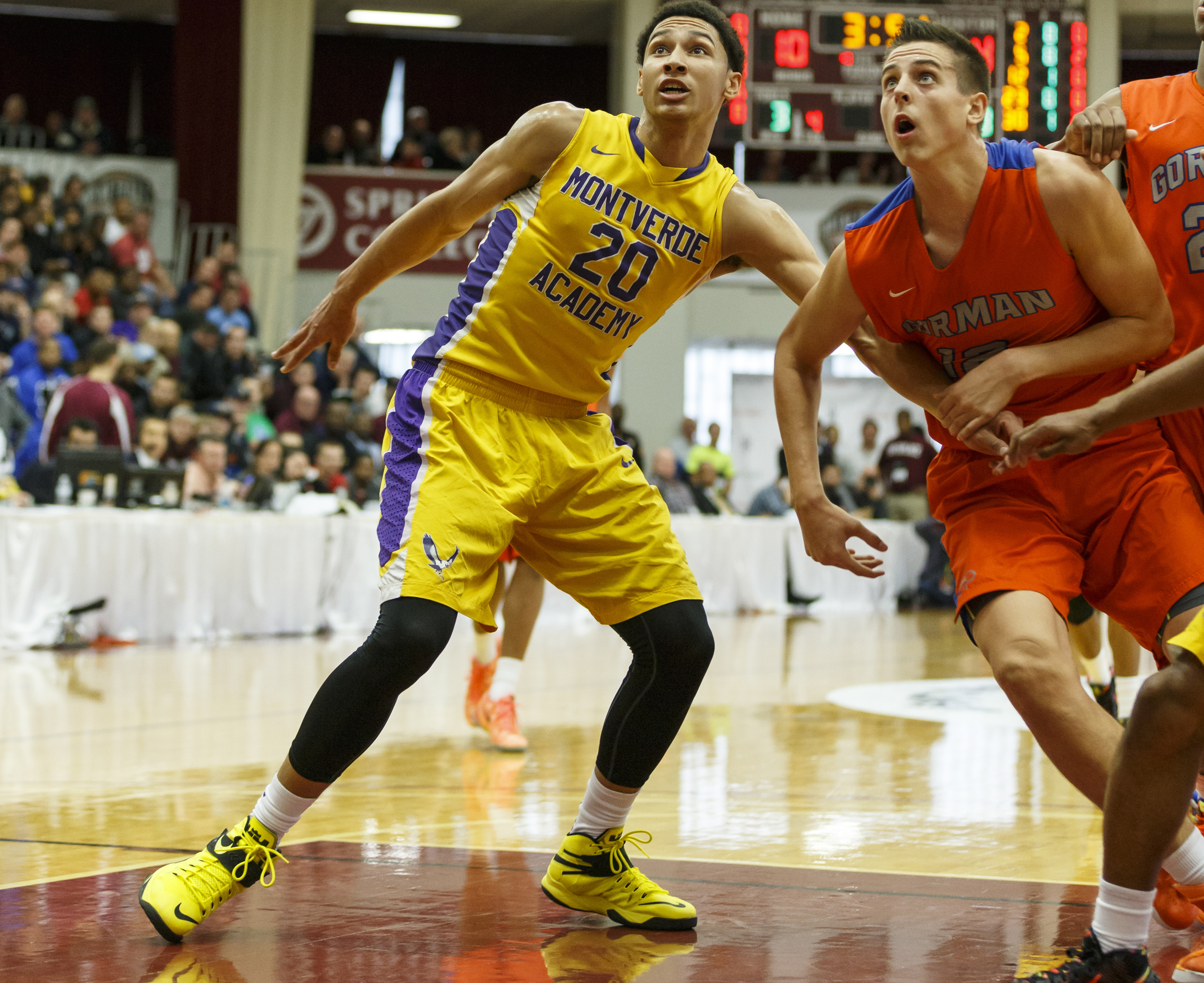 Montverde Academy's Ben Simmons (left)  is hoping to win a third consecutive national title. (Photo: David Butler, USA TODAY Sports)