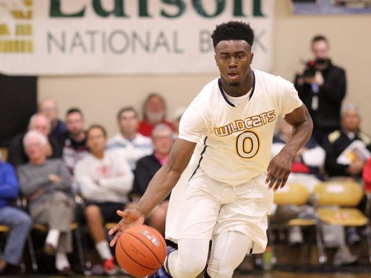 Wheeler's Jaylen Brown dribbles the ball up the court during the City of Palms game between Wheeler and Paul VI Catholic Saturday night. (Photo: Kelli Krebs / The News-Press)