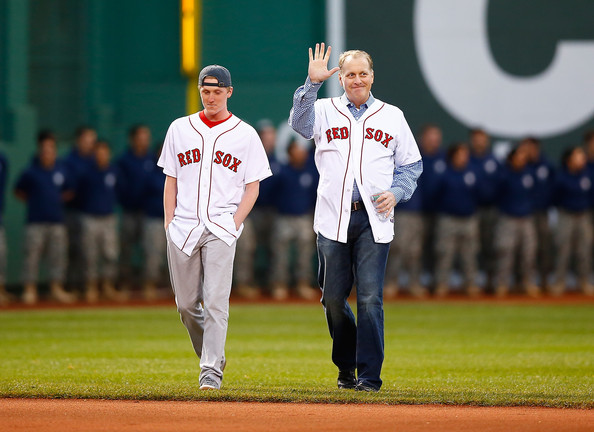 Curt Schilling, here with his son Garrett, has fought back against Twitter trolls who attacked his daughter, Gabby —Getty Images