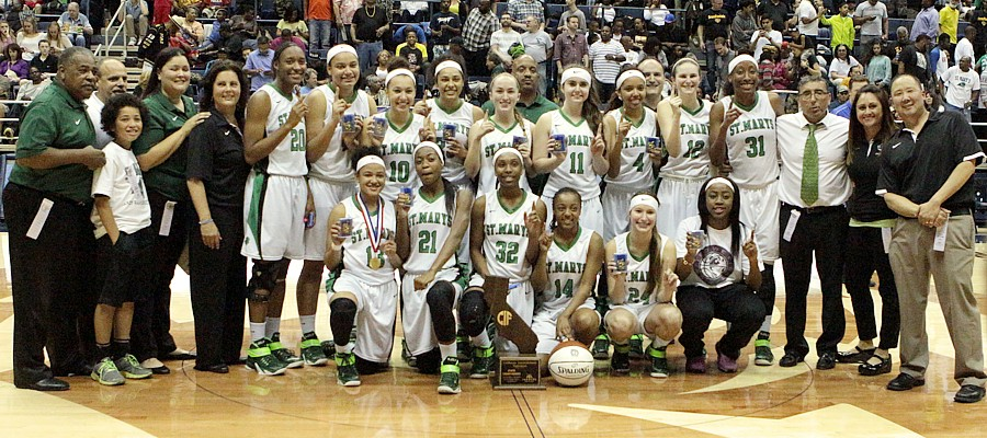 St. Mary's  (Stockton, Calif.) held onto the No. 2 spot by winning the state Open Division title. Photo: St. Mary's High